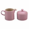 Le Creuset Stoneware Cream and Sugar Set, Pink