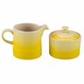 Le Creuset Stoneware Cream and Sugar Set, Soleil Yellow