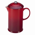 Le Creuset Stoneware French Press, Cherry Red