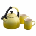 Le Creuset Teakettle and Mug Gift Set, Soleil Yellow