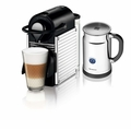 Nespresso Pixie Espresso Maker with Aeroccino Plus Milk Frother, Chrome