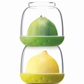 New Soda Bit Pots, Set of 2, Green and Yellow