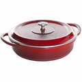 Nordic Ware Pro Cast Traditions Braiser Pan, 12 Inch, Cranberry