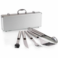 Picnic Time Fiero 5 Piece Deluxe BBQ Tool Set in Carry Case