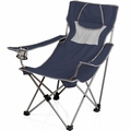 Picnic Time Folding Portable Campsite Chair, Navy - Grey