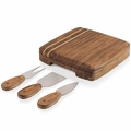 Picnic Time Legacy Cordova Bamboo Cheese Board with Tools