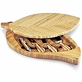Picnic Time Legacy Leaf Cheese Board and Tool Set, Bamboo