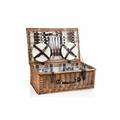 Picnic Time Newbury Willow Picnic Basket with Deluxe Service for Four