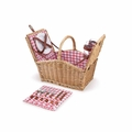 Picnic Time Piccadilly Dual Lid Picnic Basket with Service for Two