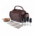 Picnic Time Pixels Gondola Picnic Basket with Service for Four