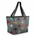 Picnic Time Pixels Hermosa Insulated Tote Bag