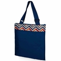 Picnic Time Vista Outdoor Picnic Blanket XL, Navy with Vibe Print