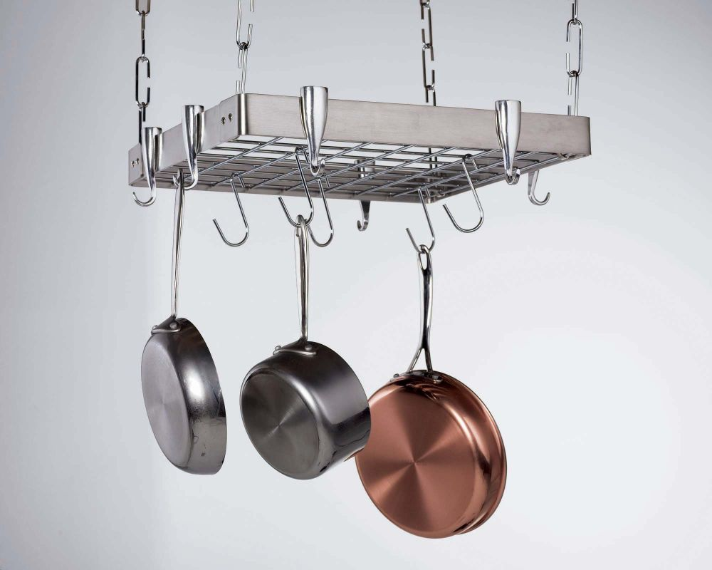 pot racks and other kitchen furnishings from concept housewares chefscornerstore
