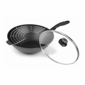 Swiss Diamond Nonstick Aluminum Wok with Lid, 11.8 Inch