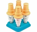 Tovolo Set of 4 Ice Cream Pop Molds