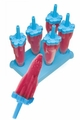 Tovolo Set of 6 Rocket Pop Frozen Treats Molds, Blue