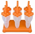 Tovolo Set of 6 Rocket Pop Frozen Treats Molds, Orange