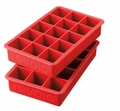 Tovolo Set of 2 Perfect Cube Ice Trays, Chili Pepper