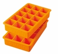 Tovolo Set of 2 Perfect Cube Ice Trays, Orange Peel