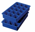 Tovolo Set of 2 Perfect Cube Ice Trays, Stratus Blue