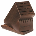 Wusthof 22 Slot Walnut Knife Storage Block w/ Swivel Base