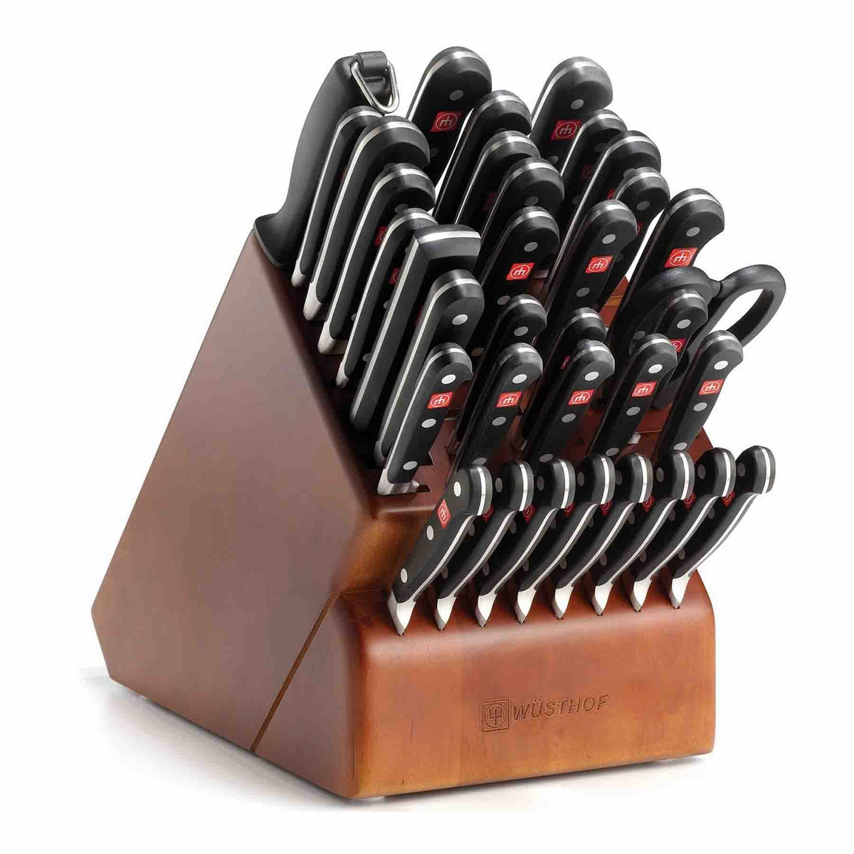 wusthof classic supreme cutlery set with knife block 36