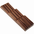 Wusthof Walnut In-Drawer Knife Storage Tray, 7 Slot