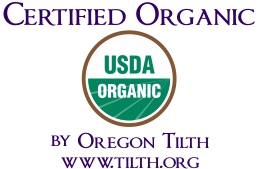 Medicine Flower is Certified Organic by Oregon Tilth--www.tilth.org