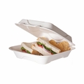 Eco-Products 9 inch Sugarcane Clamshell - Case of 200