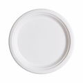 Eco-Products Renewable and Compostable Sugarcane Dinner Plates - 10 inch - Case of 500
