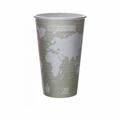 Eco-Products World Art Renewable and Compostable Hot Cups - 16 oz - Case of 500