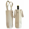 ECOBAGS Canvas Wine Bag (1 bottle) 6.5x12 - Recycled Cotton - 10 Bags