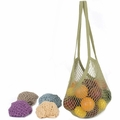 ECOBAGS Classic String Bag Assorted Pastels - Long Handle - 1 Bag