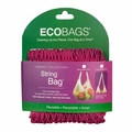ECOBAGS Market Collection String Bags Long Handle - Cranberry - 10 Bags