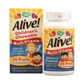 Nature's Way Alive! Children's Multi-Vitamin Chewable Natural Orange and Berry - 120 Chewable Tablets