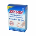 SECURE Denture Adhesive Comfort Strips - 15 Strips