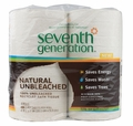 Seventh Generation Bathroom Tissue - 2 ply Natural Unbleached - 4 ct 400 sheet rolls - Case of 12
