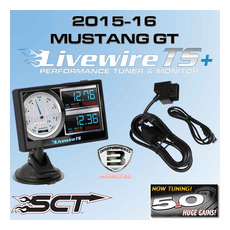 2015 Mustang GT Custom Tuned SCT Livewire TS+ Performance Ford Programmer & Monitor 5015PGT15