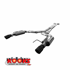 "2015-16 Mustang GT Kooks Full 3"" Exhaust System w/ X-Pipe & Black Tips 11515110"