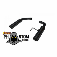 2015 Mustang GT Pypes Bomb Axle Back Exhaust System Black SFM81MSB