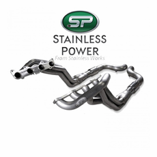 """2015-16 Mustang GT Stainless Power Header: 1-7/8"""" Catted Performance Connect SM15H3CAT"""