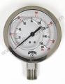 "1/2"" NPT Quality 4"" Liquid Filled Gauge 0-160 PSI"