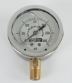 "1/4"" NPT 0-300 psi Quality 2 1/2"" Liquid Filled Pressure Gauge"