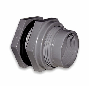 "Hayward 1/2"" PVC-Socket/Thread-EPDM-Bulkhead Fitting"