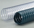 "R-2 Blue-Grey PVC Med. Wt. Wire Reinforced Exhaust Hose - 1-1/2"" (25')"