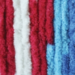 Bernat Blanket Yarn 5.3oz  - Red, White & Boom Variegated