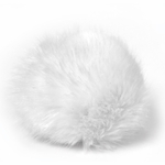 Bernat Faux Fur Pompom 1/pkg - White Rabbit