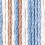Bernat Sugar'n Cream Cotton Ombre Yarn - Westport (Blue/Taupe/White) (Clearance)
