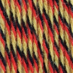 Bernat Super Value Team Colors Yarn - Black, Gold & Red