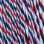 Bernat Super Value Team Colors Yarn - Red, Navy & White